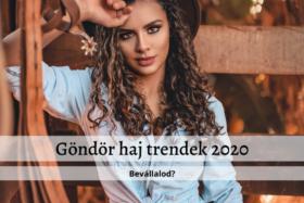 Göndör haj frizura trendek